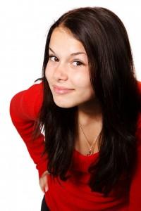 Model schwarze Haare